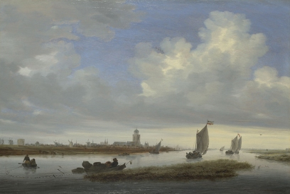 Salomon van Ruysdael, 1600/3? - 1670 A View of Deventer seen from the North-West 1657 Oil on wood, 51.8 x 76.5 cm Presented by William Edward Brandt, Henry Augustus Brandt, Walter Augustus Brandt and Alice Mary Bleecker in memory of Rudolph Ernst Brandt, 1962 NG6338 https://www.nationalgallery.org.uk/paintings/NG6338